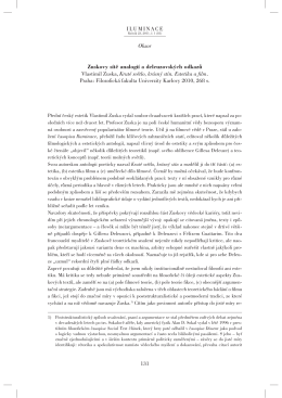 Zuskovy sítě analogií a deleuzovských odkazů