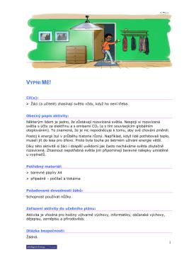 VYPNI MĚ! - teachers4energy eu