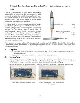 Měření charakterizace profilu a tloušťky vrstev optickou
