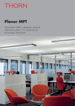 Planor MPT - THORN LIGHTING CS, spol. s r.o.