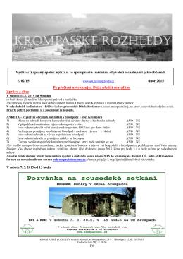 Krompašské rozhledy č.02_2015 - Sdružení pro Krompach os