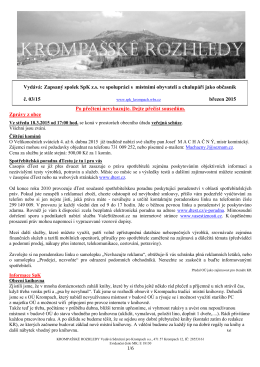 Krompašské rozhledy č.03_2015 - Sdružení pro Krompach os