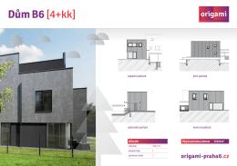 Dům B6 [4+kk] - origami