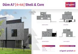 Dům A7 [4+kk] Shell & Core - origami