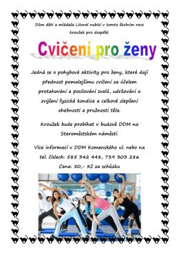 Cvičení pro ženy - Dům dětí a mládeže Litovel
