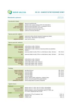 NOVÁ VALCHA - Standard provedení (rodinný dům)