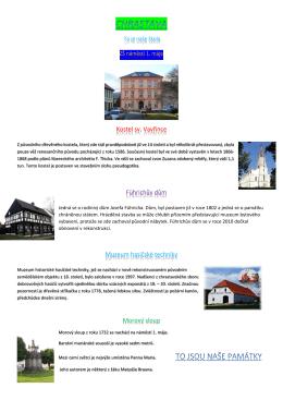 Kostel sv. Vavřince Führichův dům Muzeum hasičské techniky