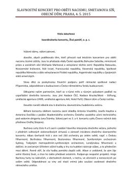 Závěrečné slovo Viola Jakschová
