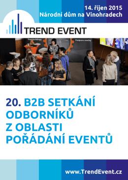 20. b2b setkání odborníků z oblasti pořádání eventů