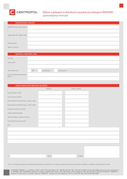 Žádost o připojení k distribuční soustavě pro kategorii MO/DOM