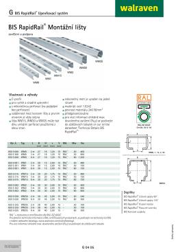 BIS RapidRail ® Montážní lišty - G 04 05 (CS-CZ)