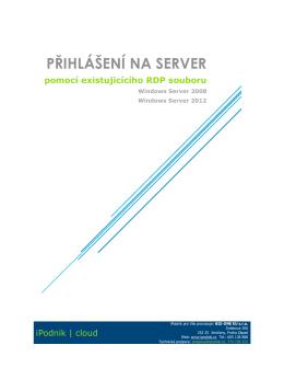 Přihlášení na server pomocí RDP souboru