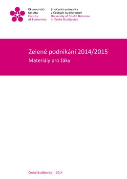 Zelené podnikání 2014/2015