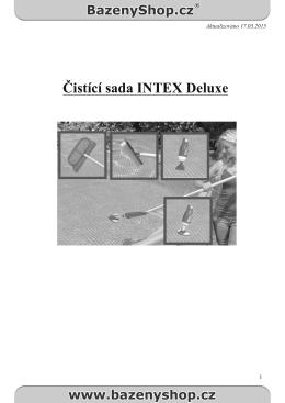Čistící sada INTEX Deluxe