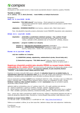 Školení FIS 2015 - Horal kveten