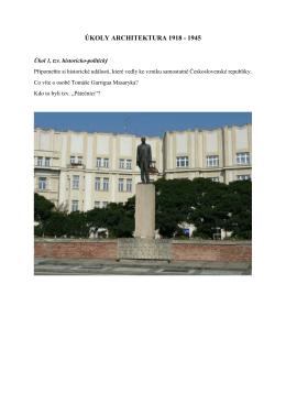 Kompletní úkoly Architektura 1918 – 1945