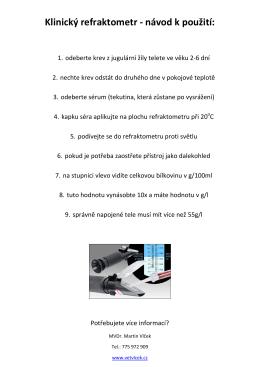 Klinický refraktometr