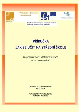 Jak se učit na SŠ - Pedagogicko-psychologická poradna Pardubice