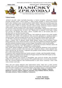 HASIČSKÝ ZPRAVODAJ - Okresní sdružení hasičů Znojmo