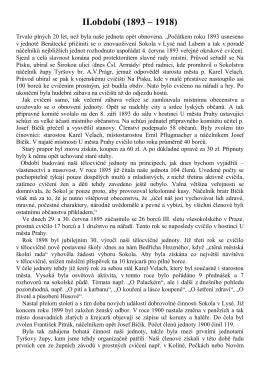 II.období (1893 – 1918) - TJ Sokol Lysá nad Labem