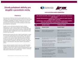 Zásady pohybové aktivity pro dospělé s poraněním míchy