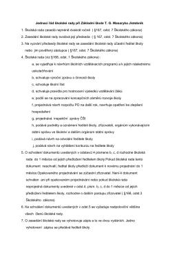 Jednací řád školské rady - Základní škola TG Masaryka Jistebník