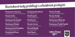 Borůvkové hody probíhají u oficiálních prodejců: