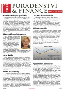Newsletter Poradenství a Finance 2015/13 z 1.4.2015