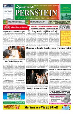 Vydání Týdeníku Pernštejn z 19.10. 2015, č. 38