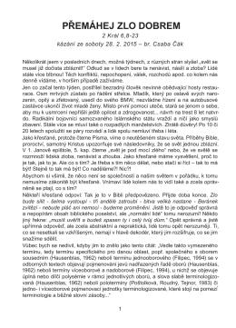 PŘEMÁHEJ ZLO DOBREM - Stránky sboru CASD Praha