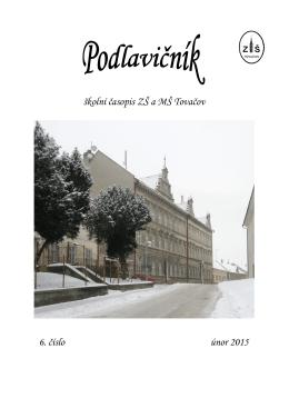 školní časopis ZŠ a MŠ Tovačov 6. číslo únor 2015