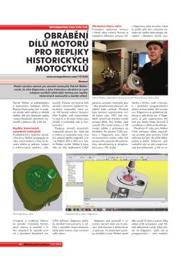 obrábění dílu motoru pro repliky historických motocyklu