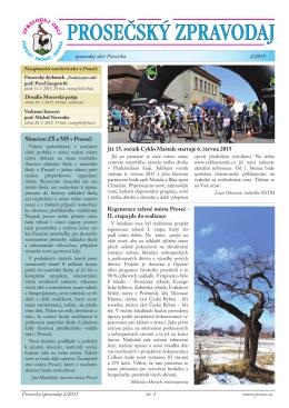 Prosečský zpravodaj 2/2015