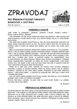2015-09-září - Farnosti Boskovice a Svitávka