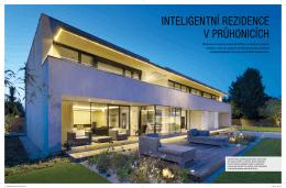 VILLA JOURNAL – Inteligentní rezidence v Průhonicích
