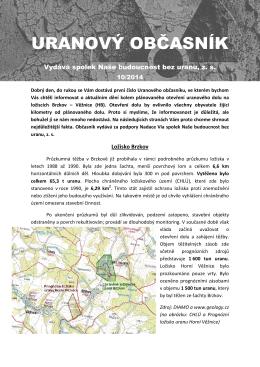 URANOVÝ OBČASNÍK č. 10-2014 - Naše budoucnost bez uranu, zs