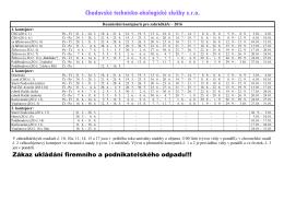 Kontejnery Chodov - zahrádky 2015