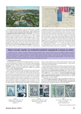 Tajné rytecké značky na československých známkách (a nejen na