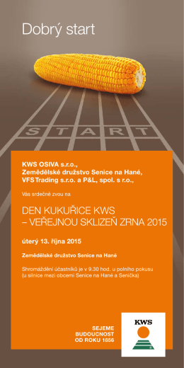 Dobrý start - KWS Osiva sro