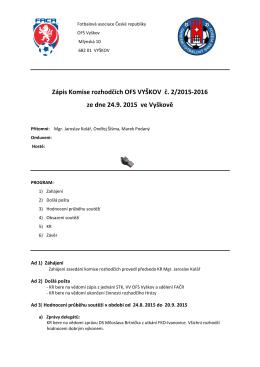 Zápis KR č.2 ze dne 24.9.2015