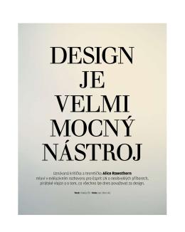 Design je velmi mocný nástroj