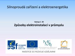 Elektroenergetika a elektrická zařízení