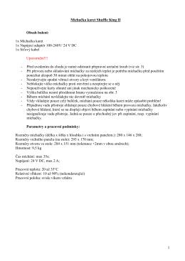 Manuál - pdf - Shuffle King II