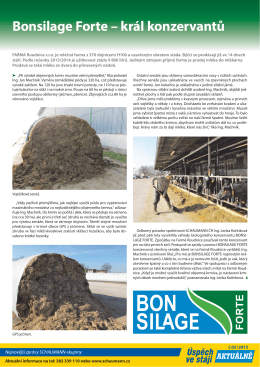 2015 Farma Roudnice - král konzervantů Bonsilage Forte