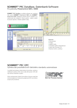 SCHMIDT ® PRC DataBase, Datenbank