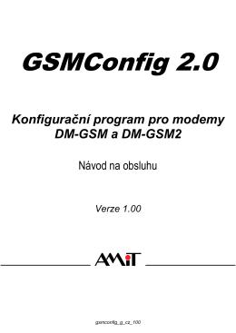 GSMConfig - Návod na obsluhu