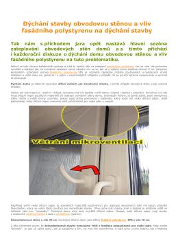 Dýchání stavby obvodovou stěnou a vliv fasádního polystyrenu na