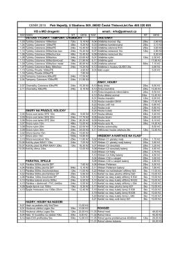 Ceník drogistického zboží 2015