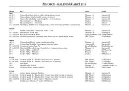 Kalendář akcí v Žihobcích pro rok 2015