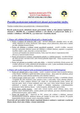 (Pravidla poskytování jednotlivých úkonů - ADP
